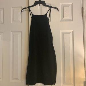 Black Bodycon High Neck Dress